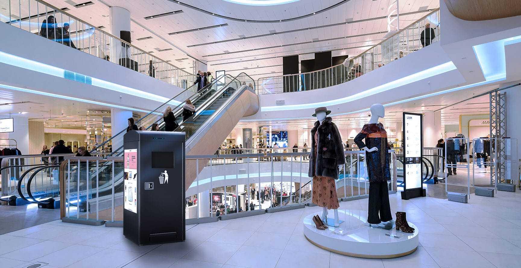 Smart City Bin Indoor TV in shopping mall